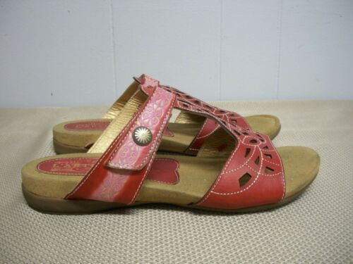L'Artiste Spring Step ULYANA Red Pink Tan Slide-on