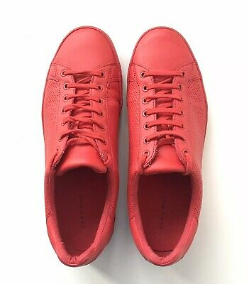 ZARA MAN Red Faux Leather Lace-up Pumps