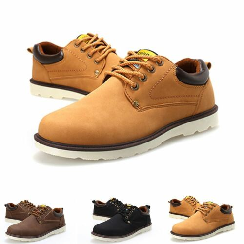 Men/'s Boys New Faux Leather Casual Lace Up Trainers Office Work Pumps Shoes Size