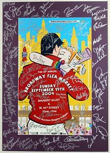 BROADWAY CARES FLEA MARKET 2004 Alice Ripley, Cy Coleman 70+ Signed Poster