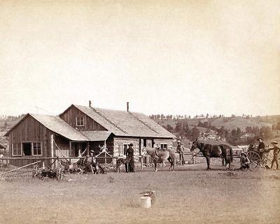 OLD WEST COWBOY /& HORSES BONHAM TEXAS 1910 11x14 SILVER HALIDE PHOTO PRINT