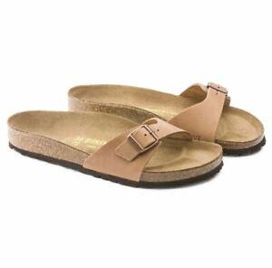 Birkenstock-Madrid-Antik-Braun-Sommer-Sandale-Fettleder-Weite-Schmal