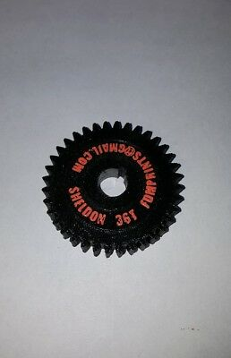 NEW Sheldon METAL LATHE GEAR 36 Tooth 3D Printed Phenolic Gear Replacement