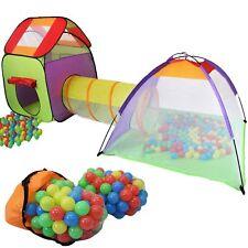 KIDUKU® Spielzelt + 200 Bälle + Tunnel + Tasche Kinderzelt Bällebad Babyzelt