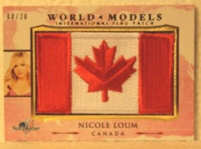 Trading Card Singles 2017 Benchwarmer America The Beautiful World Models Wm7 Nicole Loum 8/20 Great Varieties Collectibles