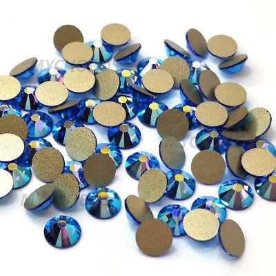144 Swarovski 2058 7ss crystal flatback rhinestones nail art ss7 SAPPHIRE AB