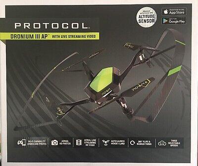 NEW Protocol Dronium 3 III AP Drone Remote Control Live Video NIB FREE SHIPPING