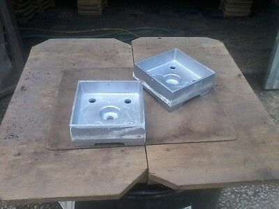 Anchored Post Base 6x6 Heavy Cast Aluminum Contractor Pack of 15 MADE IN THE USA