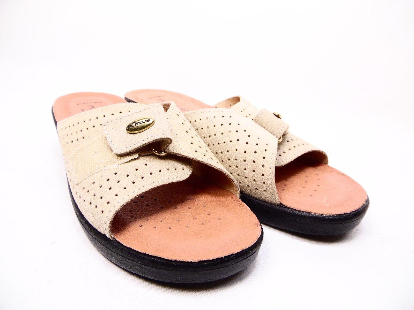 Flexus Kea Leder Slide Sandales :9.5-10) Beige Größe 41 (US :9.5-10) Sandales 17455e