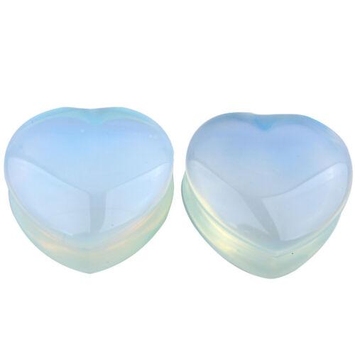 Details about  /Pair Organic Stone Ear Flesh Tunnels Plugs Ear Gauges Saddle Double Flare Gauges
