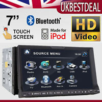 "7"" Double 2 DIN in Dash Car CD DVD Player Touch Screen Radio Stereo BT iPOD UNIT"