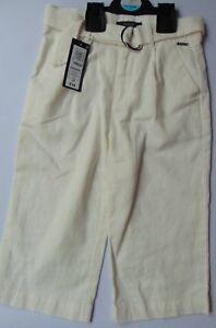 Autograph-Girls-Winter-White-Linen-Rich-3-4-Trousers-w-Adjustable-Waist-Age-4-15