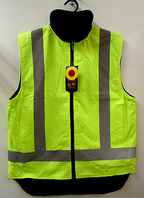 Reversible  Hi Vis Day Night Layer Vest Safety Workwear Sizes S - 3XL 3M Tape
