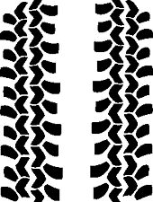 BF Goodrich Tire tread decals Off Road 4X4 Jeep BFG Rubicon Camping