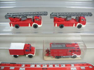 K941-0-5-4x-Wiking-h0-MB-de-bomberos-FW-lf-16-616-metz-DLK-Unimog-top-1xovp