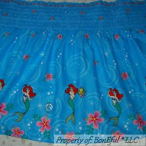 Boneful fabric bty cotton smocked disney little mermaid for Children s cotton dress fabric