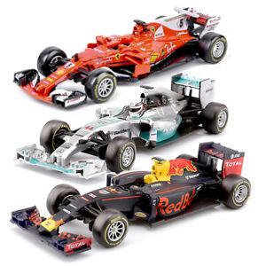Burago-1-43-Formula-One-F1-Diecast-Modelo-Coche-Mercedes-Farrari-Red-Bull-Carrera-2019