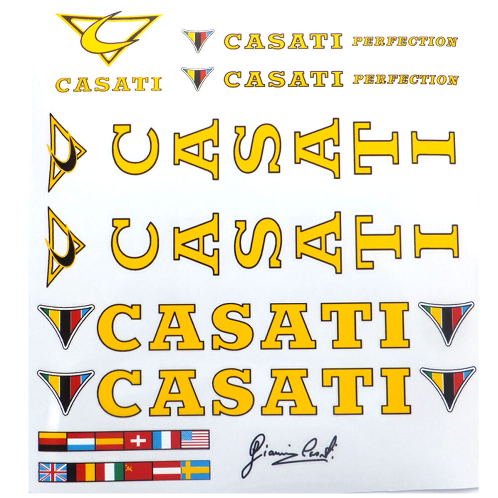 Casati Perfection decal set for Italian  bike new