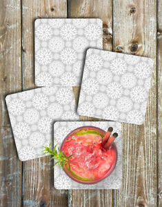 Coasters-Set-of-4-White-and-Grey-Dahlias-Non-Slip-Neoprene