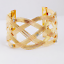 Women-Gold-Plated-Crystal-Hollow-Weaved-Punk-Cuff-Bracelet-Bangle-Party-Jewelry thumbnail 2