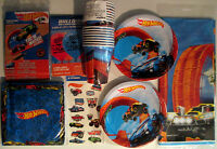 Hot Wheels Wild Racer Birthday Party Supply Deluxe Kit Balloons,invites & Tattoo