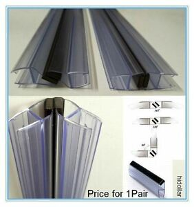 Magnetic Pvc Plastic Shower Screen Door Water Seal Strip