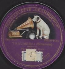 Mischa Elman Violine spielt SchumannsTräumerei (Einseitige Schallplatte Grammoph