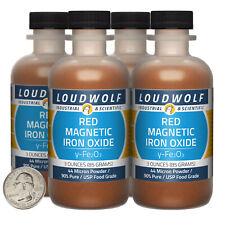 Iron Oxide Red Magnetic 12 Oz 4 Bottles 99 Usp Food Grade