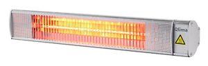 Stufa Alogena Riscaldamento Da Esterno 2000 W Rettangolare mm 610 x 120 x 110