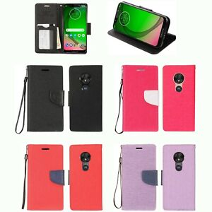 los angeles 73764 ec52a Details about Flip Case MOTOROLA US Canada XT1952-3 XT1952-4 XT1952DL Moto  G7 Play (5.7