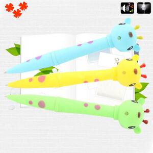 Details about Creative Cow Duck Giraffe Electronic Pen LED Light Animal  Sound Kids Pen Trendy