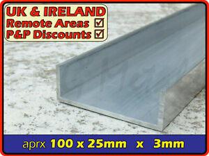"Aluminium Channel║4"" x 1""║(C U section, gutter, profile,ramp,alloy)"