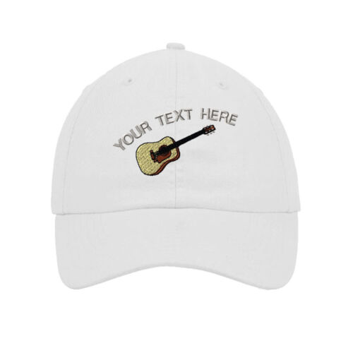 Your Text Here Custom Guitar Embroidery Embroidered SOFT Unstructured Hat Cap