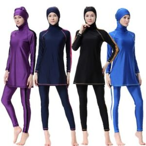 Muslim Women Modestly Swimming Costume Full Body Cover Burkini