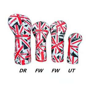 4X-Union-Jack-Golf-Headcover-Wood-Cover-Driver-Fairway-Wood-Head-Cover-1-3-5-UT