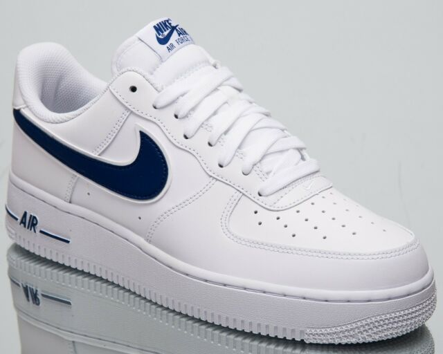91330c3f3fc Nike Air Force 1  07 3 New Men s Lifestyle Shoes White Deep Royal Low AO2423