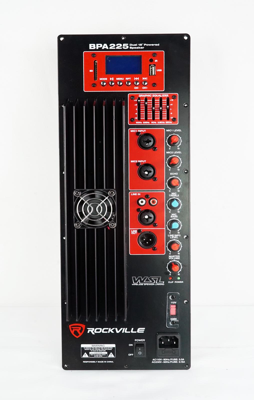 375 Watt RMS Pro Audio Powerot Speaker Amplifier Plate Module with XLR EQ