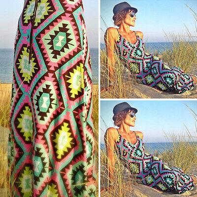 Blackless Women Summer Long Maxi BOHO Evening Party Dress Beach Dresses Sundress