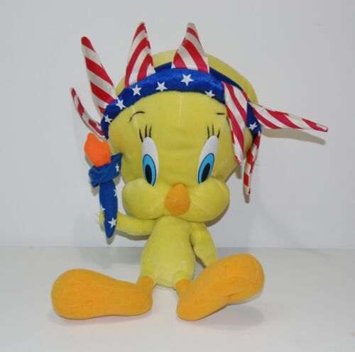 "Tweety Bird Statue of Liberty 14"" Plush Nanco 2002 Looney Tunes Warner Bros"
