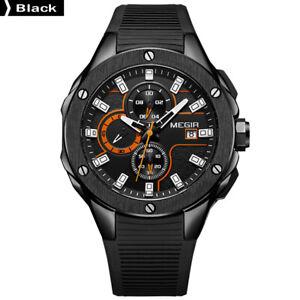 MEGIR-2053G-Men-Sport-Watch-Chronograph-Silicone-Strap-Quartz-Watch-Black