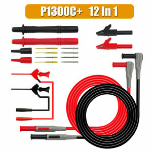 12PCS-SET-Test-Lead-Probe-Cable-Pen-Alligator-Clip-For-Digital-Multimeter-Meter