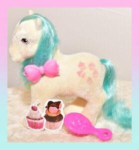 ❤️My Little Pony MLP G1 Vtg So Soft Cupcake Fuzzy Flocked SS Teal Hair❤️