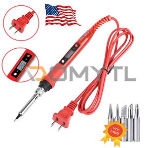 80W Soldering Iron Digital LCD Electric Welding Tools Hand Solder Wire Tweezers
