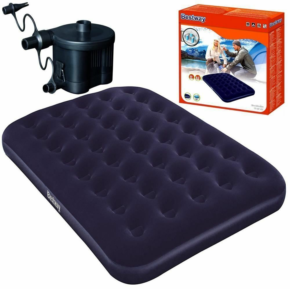 Bestway Double Airbed Inflatable Air Bed Mattress And Battery Powered Pump Set