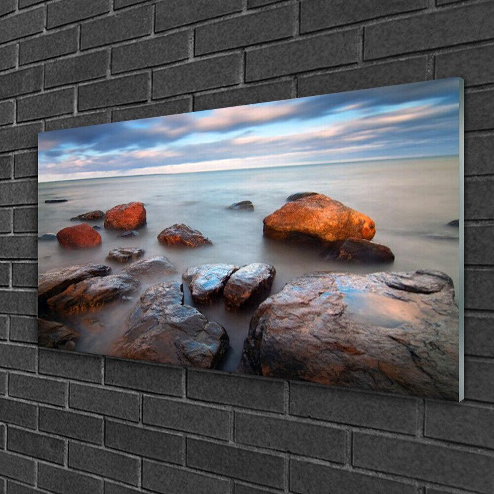 Muro immagini immagini immagini da plexiglas ® 100x50 vetro acrilico immagine PIETRE PAESAGGIO MARE 7d053d