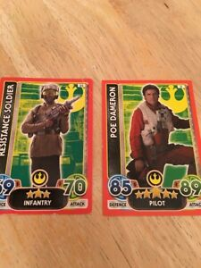 Two-Force-Attax-Trading-Cards-3-amp-22