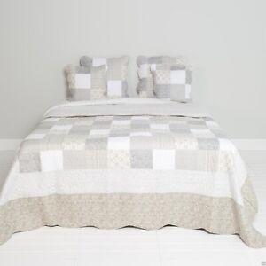 SALE-Quilt-Patchwork-Q154-060-180-x-260-Uberwurf-grau-weiss-beige