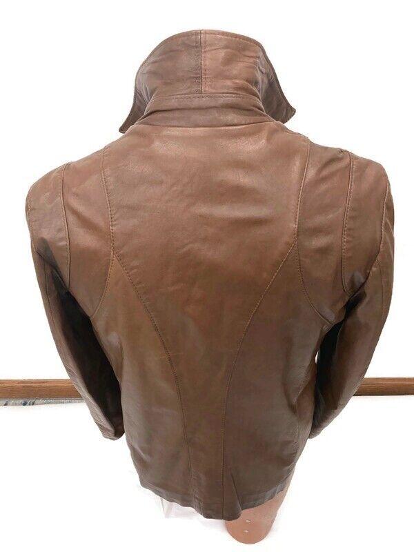 Genuine Vintage 1970s Brown Leather Blazer Jacket… - image 3
