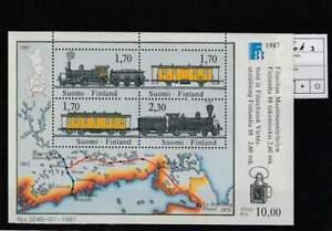 Finland postfris 1987 MNH block 3 - Finlandia / Treinen / Train (S2905)