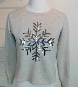 köpa senast godkännandepriser VILA Pullover Pulli grau XS 34 Sweatshirt Schneeflocke Sweater ...
